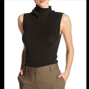 Theory Leendelle Button Cowl Wool Tank
